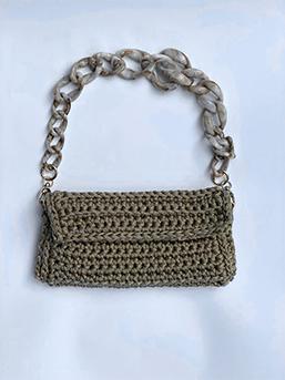 Bolsa de Crochet com a Paty - Roma com Alça
